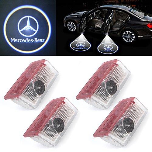 Lot de 4 LED 3D Porte de Voiture d/'/éclairage Lampe Haute D/éfinition Logo Projection de Lumi/ère