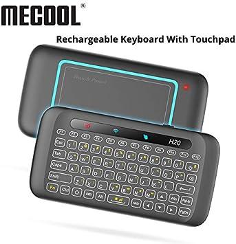 Calvas - Mini teclado con mando a distancia universal (2,4 G, retroiluminado, USB y panel táctil para Smart TV Box Mini PC Samsung LG TV H20): Amazon.es: Bricolaje y herramientas