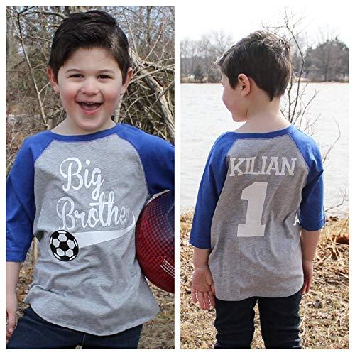 aed1f59ff1c Amazon.com: Soccer big brother shirt, big brother shirt, promoted to big  brother shirt, soccer shirt, pregnancy announcement shirt, new big brother:  ...