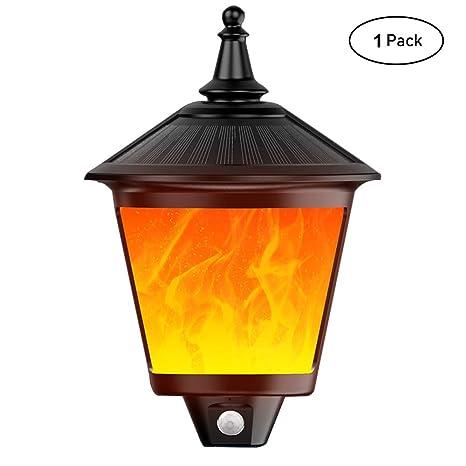 ShinePick Luces Solares, Aplique de Exterior Lámpara Impermeable Recargable con Sensor de Movimiento Encendido/