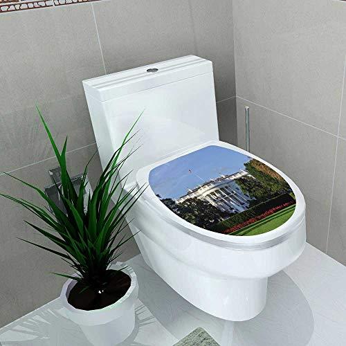 Auraise-home Bathroom Toilet The White House Washington DC United States Vinyl Decal Sticker W13 x L13 -