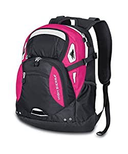 High Sierra Scrimmage Backpack, Mercury Fuchsia/Grey, 19.25x13.5x9.25-Inch