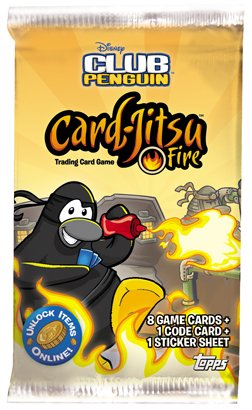 Club Penguin - Trading Card Game - Card-Jitsu Series 3 FIRE - Booster (Club Penguin Game Cards)