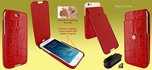 Piel Frama 685 Red Crocodile iMagnum Leather Case for Apple iPhone 6 Plus / 6S Plus / 7 Plus / 8 Plus by Piel Frama (Image #4)