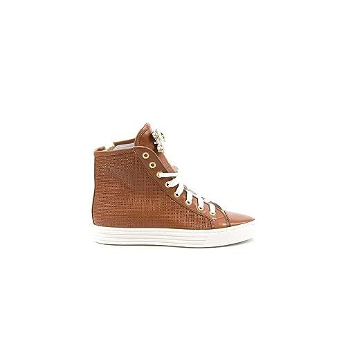Zapatillas De Deporte con Cuña Interior De Cuero Broche De Piedras, 38: Amazon.es: Zapatos y complementos