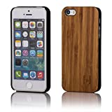 32nd Wooden Back TPU Shell Phone Case Cover for Apple iPhone 5 5S SE - Made from Real Wood - Bamboo