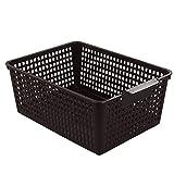 Ramddy Plastic Storage Bins Basket, Pack of 3