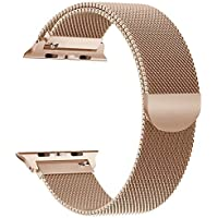 Yamen Compatible con Apple Watch Band 1.496in 1.575in Milanese Loop para iWatch Band 1.654in 1.732in Series 2 Series 3 Series 4