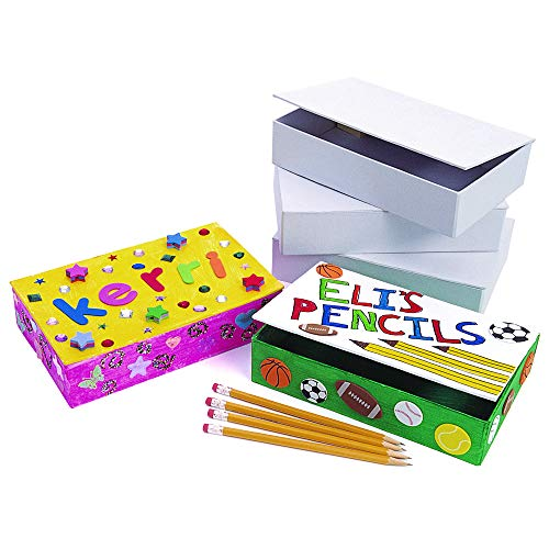 Colorations PENBOX White Cardboard Pencil Boxes (Set of 12) ()