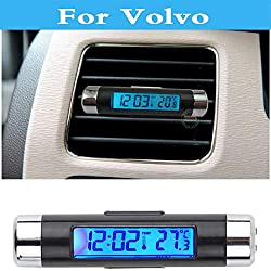 Chenghuaguo Car Digital Time Clock + Voltmeter + Thermometer for Volvo XC60 XC70 XC90 C30 C70 S40 S60 S80 V40 V50 V60 Cross Country V70 hot