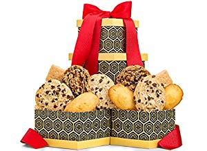 GiftTree Gourmet Double Delight Cookie Gift Box | Cookies include: Chocolate Chunk, Cranberry Oatmeal, Maple Leaf, and French Butter Madeline | Perfect Gift for Birthday's, Thank You, Thinking of You