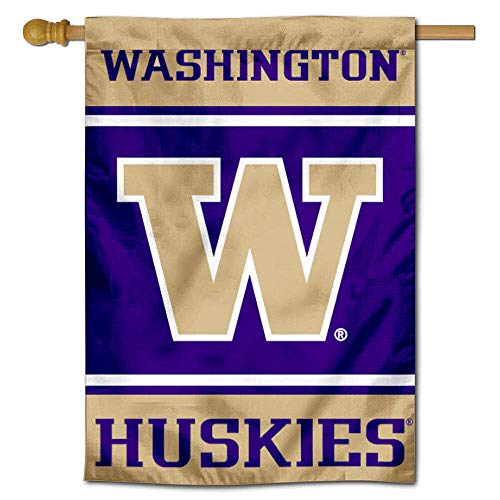 Washington Huskies Two Sided and Double Sided House Flag ()