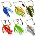 6 Fishing Hard Spinner Lure Spinnerbait Pike Bass 18g/0.63oz T11