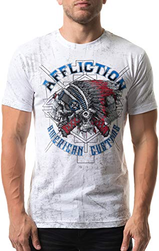 Affliction Men's AC Wyoming, White Reactive Large