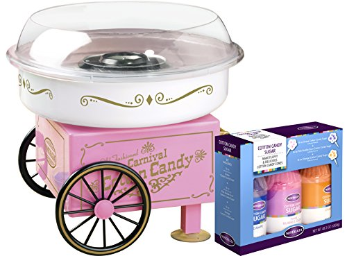 Nostalgia PCM305BUN Hard & Sugar-Free Hard Candy Cotton Candy Maker - Bonus Bundle
