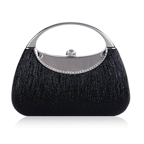 Evening Womens Bag Crystal Black Snap Metal Damara Glittering wdqYXdP