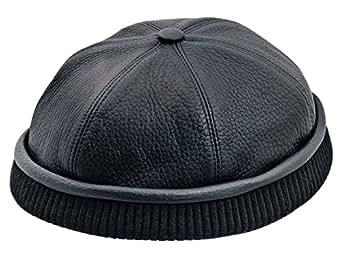 Sterkowski Genuine Leather Docker Leon Beanie Cap At