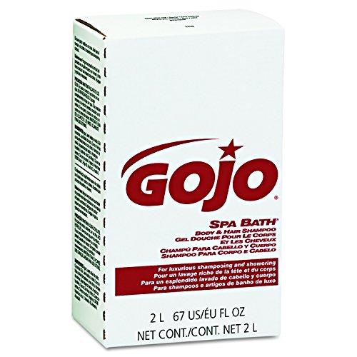 GOJO 2252 Spa Bath Body & Hair Shampoo, Herbal, Rose Color, 2000mL Refill (Case of 4)