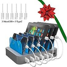 [Patrocinado] PowerCharge - Estación de acoplamiento para varios dispositivos (compatible con iPhone 5/6/7/8/x, iPad Air/mini/3/4, Samsung Galaxy S6/S7/S8/S9)