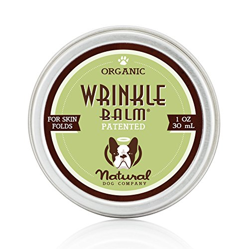 Natural Dog Company - Wrinkle Balm | Protects Dog's Skin Folds, Treats Dermatitis, Redness, Chafing, Inflammation | Organic, All-Natural Ingredients, Perfect for Bulldogs - 1 Oz Tin