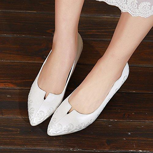 Sono con Ajunr superficiale Ajunr con bocca scarpe sposa matrimonio bianca un   cd0e65