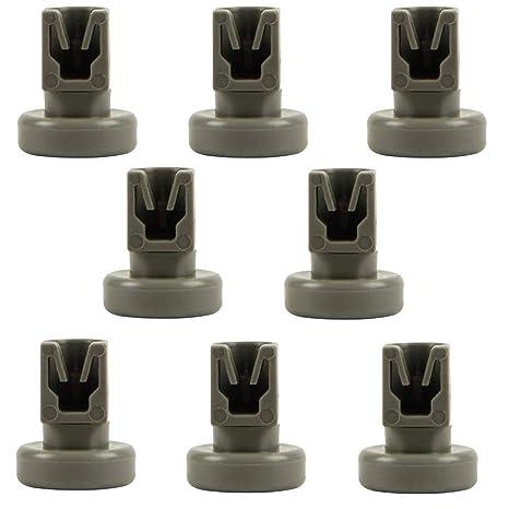 Ruedas de lavaplatos, 8 unidades de ruedas de cesta inferior para ...