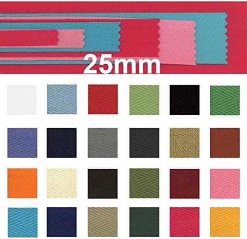 Productos de Otros países 100% algodón de Sarga Cinta 2,54 cm x 50,29 m, marrón Oscuro: Amazon.es: Hogar