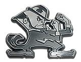 """Notre Dame """"Leprechaun"""" Chrome METAL Auto Emblem"""