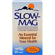 SlowMag Magnesium Chloride with Calcium Tablets, 60 Count, Dietary Supplement with Magnesium Chloride and Calcium for Daily Use