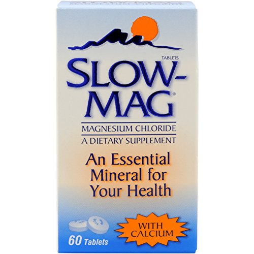 SlowMag Magnesium Chloride with Calcium Tablets, 60 Count, Dietary Supplement with Magnesium Chloride and Calcium for Daily (Dietary Supplement Brands)