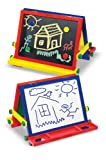 : Melissa & Doug Wooden Magnetic Tabletop Art Easel - Dry-Erase Board and Chalkboard