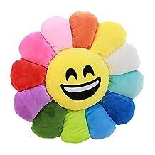 Hot Sale Sunflowers Soft Emoji Smiley Emoticon Stuffed Plush Toy Emoji Doll Cushion Gift