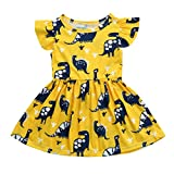 Baby Girls Dress,  Xinantime Toddler Kids Print Cartoon Fox Sun Dress Clothes Outfits for 0-5Years Old (1-2 Y, Yellow 1)