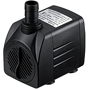 Lyqily 400 GPH (1500L/H) Submersible Water Pump For Aquarium, Pond, Fish Tank Fountain Water Pump Hydroponics with 5.9ft (1.8M) Power Cord
