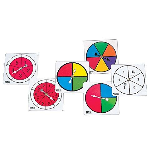 hand2mind Color/Number Spinner Collection, Set of 6