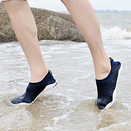 Beach Water Woman Swimming Man OUYAJI Shoes Couple Blue Non Yoga Slip Shoes Walking Play Lightweight dvxtwHq