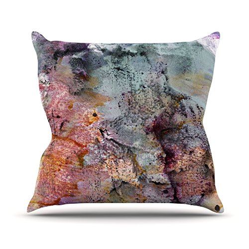 20 by 20 Kess InHouse Iris Lehnhardt Floating Colors Throw Pillow Teal Brown