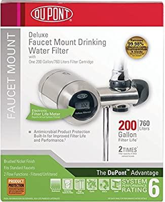 DuPont WFFM350XBN Electric Metered 200-Gallon Deluxe Faucet Mount Premium Water Filtration Filter