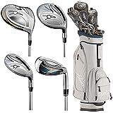 Adams Golf Women's New Idea Complete Set, Left Hand, Beige Navy