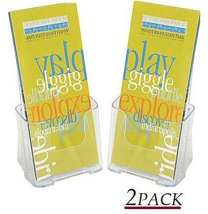 1InTheOffice Brochure Holder, Plastic Literature Holder, 4