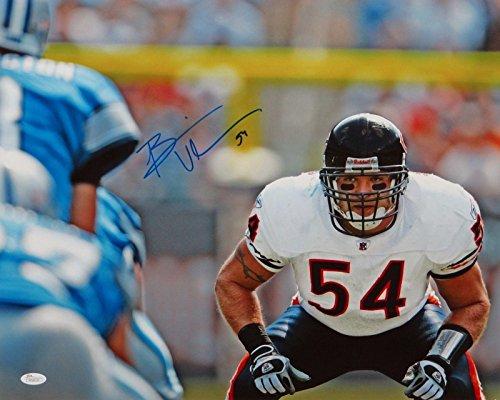 - Autographed Brian Urlacher Photograph - 16x20 Horizontal Front View - JSA Certified - Autographed NFL Photos