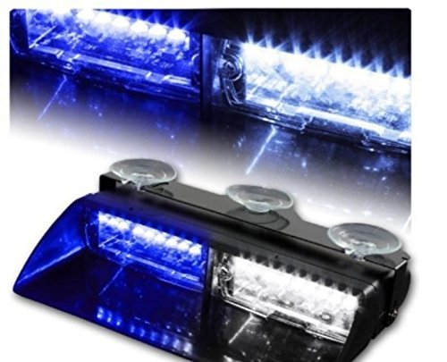 ZHOL 16-led 18 Flashing Mode Car Emergency Vehicle Dash Warning Strobe Flash Light Blue - Strobe Blue