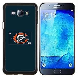 Qstar Arte & diseño plástico duro Fundas Cover Cubre Hard Case Cover para Samsung Galaxy A8 A8000 (Cub Equipo deportivo)