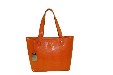 Ralph Lauren Newton Classic Tote Orange  Handbags  Amazon.com 75495e629a