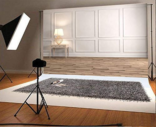 Laeacco 9x6ft Vinyl Photography Backdrop Console Table in a Classic Living Room Interior Scene Photo Background Children Baby Adults Portraits Backdrop