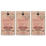 Grandpa Soap Co. Grandpa's Bar Soaps Rose Clay 4.25 oz (3-pack)