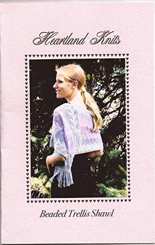 (Heartland Knits Beaded Trellis Shawl or Scarf Knitting Pattern)