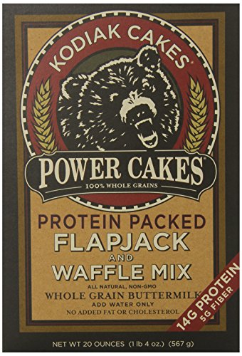 Kodiak Cakes Power Cakes, All Natural, Non GMO Protein Pancake, Flapjack and Waffle Mix, Buttermilk, 20 Ounce - Muffin Cake Mix