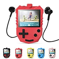 AGPTEK MP3 Player for Kids, Portable 8GB Music Player with Built-in Speaker, FM Radio, Voice Recorder, Expandable Up to 128GB, Red(K1)