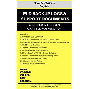 ELD BACKUP LOGS & SUPPORT DOCUMENTS
